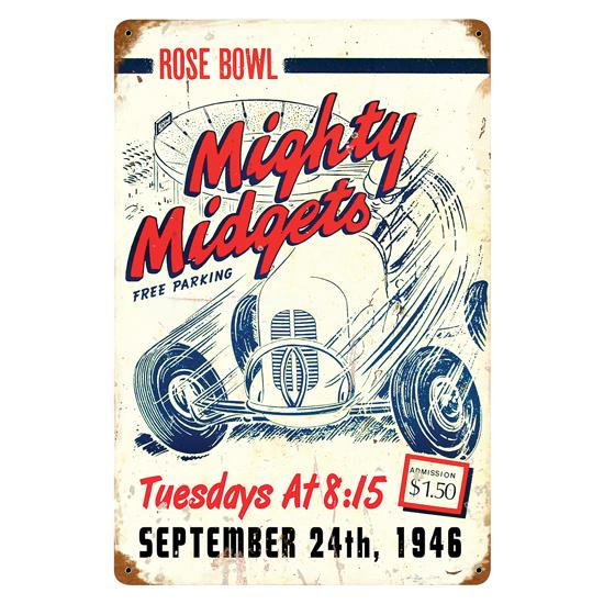 Mighty Midget Vintage Metal Sign
