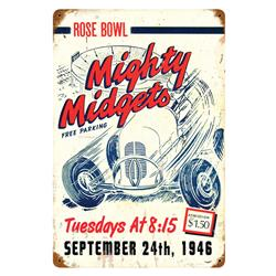 Mighty Midget Vintage Tin Sign