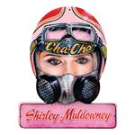 Shirley Muldowney Helmet Metal Sign