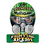 Zookeeper Mulligan Helmet Metal Sign