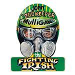 Zookeeper Mulligan Helmet Metal Sign