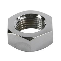 Chrome Steel Jam Nut, 1/2 Inch-20 RH NF Fine Thread