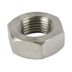 Stainless Jam Nut, 11/16 Inch-18 LH NF Fine Thread