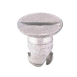 Steel Flush Mount Quarter Turn Fasteners, .650 Inch Grip, Pack/10