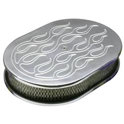 Flamed Billet-Style Oval Air Cleaners