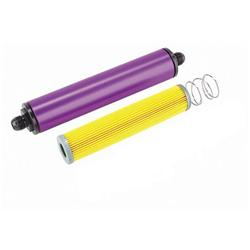 Purple 10 Inch Aluminum Fuel Filter, Paper Element
