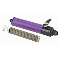 Purple Fuel Filter with Shut-Off, 10 Inch, -12 AN