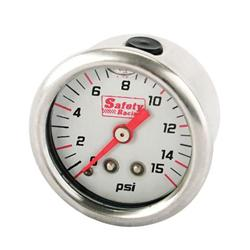 Speedway Liquid Filled Fuel Pressure Gauge
