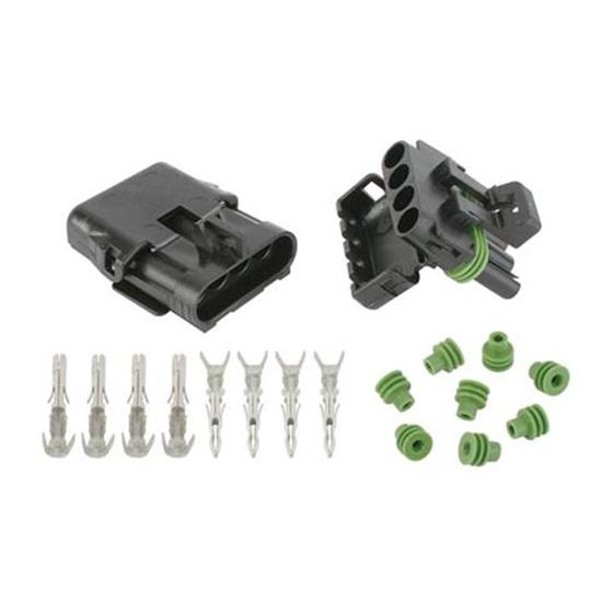 Speedway 70404 Four Wire Weatherpack Connectors, 14-16 Gauge
