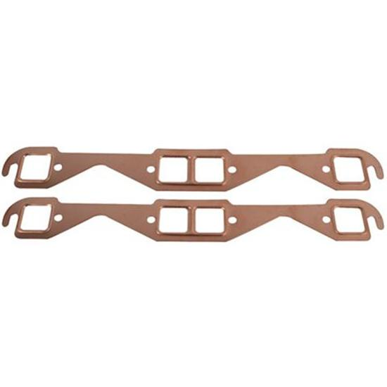 Small Block Chevy Copper Exhaust Gaskets, Square Port
