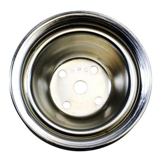 1969-85 Small Block Chevy Single Groove Upper Pulley, Long Water Pump
