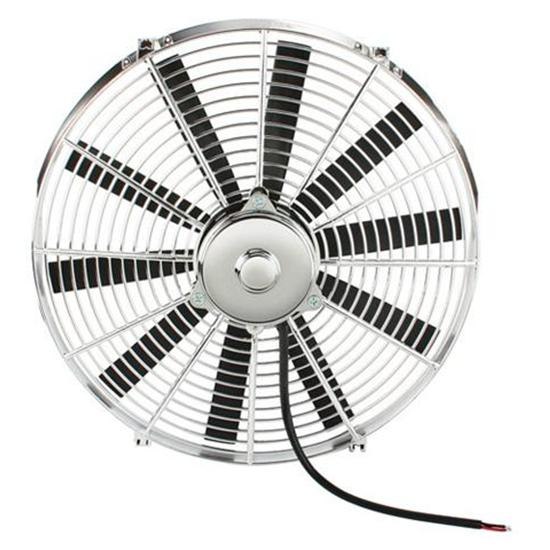 12 Inch Chrome Straight Blade Electric Engine Cooling Fan-Reversible