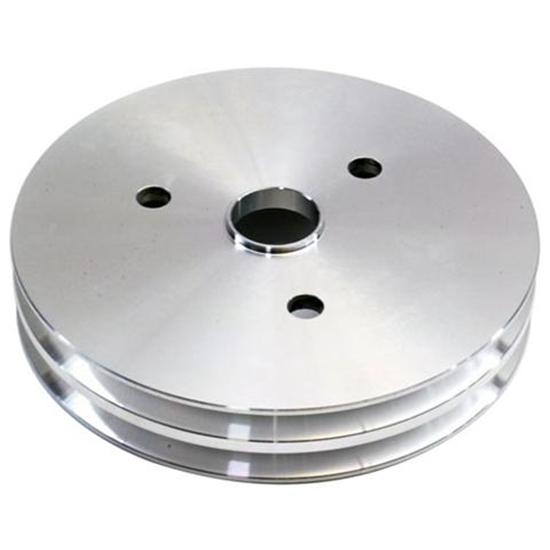 Small Block Chevy Aluminum Double Lower Pulley, Short Pump