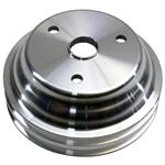Small Block Chevy Aluminum Double Lower Pulley, Long pump