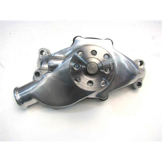 Small Block Chevy Short Style Polished Aluminum Water Pump (G-Sale)