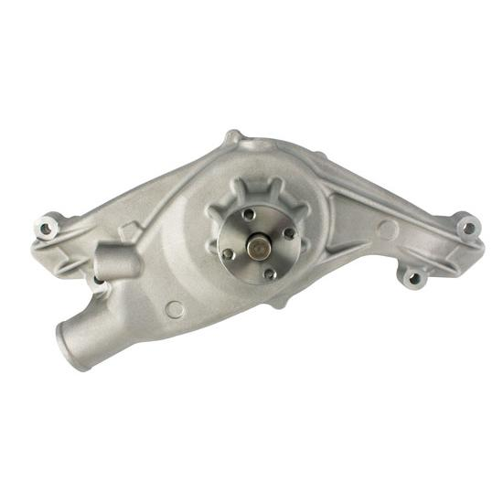 Plain Aluminum 348/409 Big Block Chevy Water Pump, Mechanical, Short