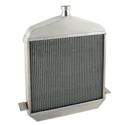 Speedway 1917-1923 T-Bucket Buffed Aluminum Radiator-Chevy Outlets