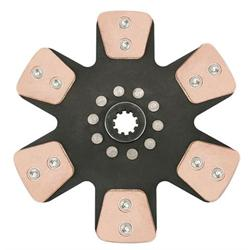Ace Mfg. 10-1/2 In Metallic Clutch Disc, Solid Hub, 1-1/8 In 10-Spline