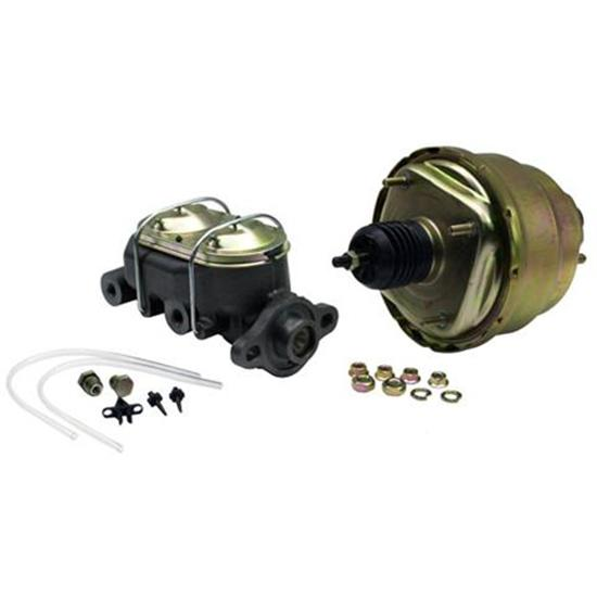 Dual 7 Inch Brake Booster Master Cylinder Combo, 1 Inch Bore