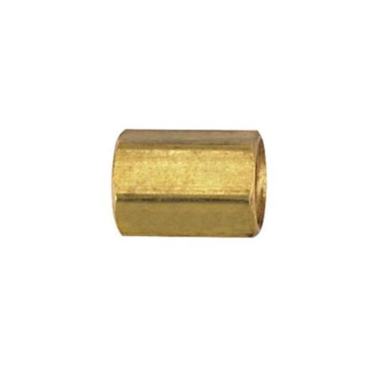 IFF Brass Union Coupler, 3/8 Inch-24 IFF to 3/8 Inch-24