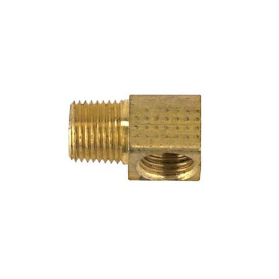 90 Degree 3/8-24 IFF to 1/8 Inch NPT Male Adapter Fitting