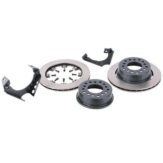 Basic Weld-On Rear Disc Brake Kit for 1969-77 GM Caliper, 1.96 Inch Backspace
