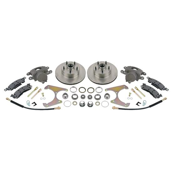 Disc Brake Kit, 1969-77 GM Caliper to Early Ford Spindle, 5 on 4-3/4 Inch