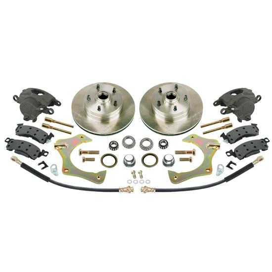 Mustang II Complete 11 In Front Disc Brake Kit, 5 x 4-3/4 GM BP