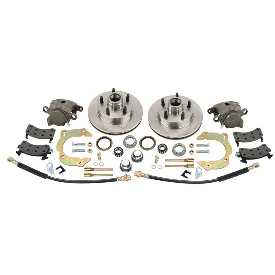 Front Disc Brake Kit, GM Metric/Mustang II to 1949-54 Chevy Spindle, 5 on 4-1/2