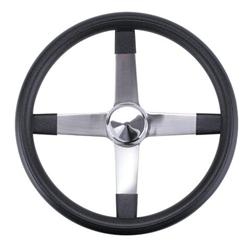 Competition 2 Inch Dish Steering Wheel, Stainless Steel, 15 Inch