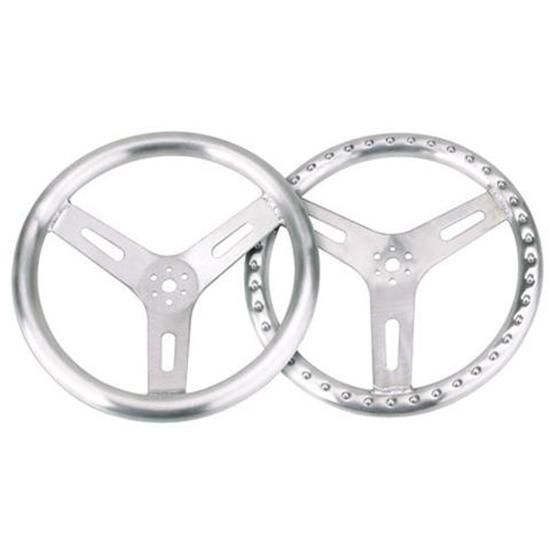 15 Inch Pro-Grip Aluminum Steering Wheel, Flat