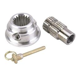 Pin-Style Quick Release Aluminum Steering Wheel Hub, 5/8In Steel Shaft