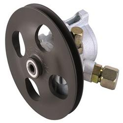 Speedway Steel Power Steering Pump V-Belt Pulley AN8 Inlet