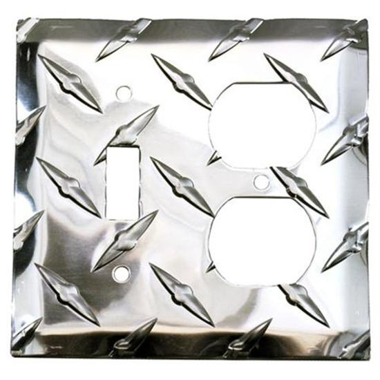 Diamond Plate Switch-Outlet Cover Plate