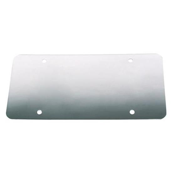 Smooth Stainless License Plate Back