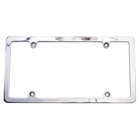chrome license plate frames