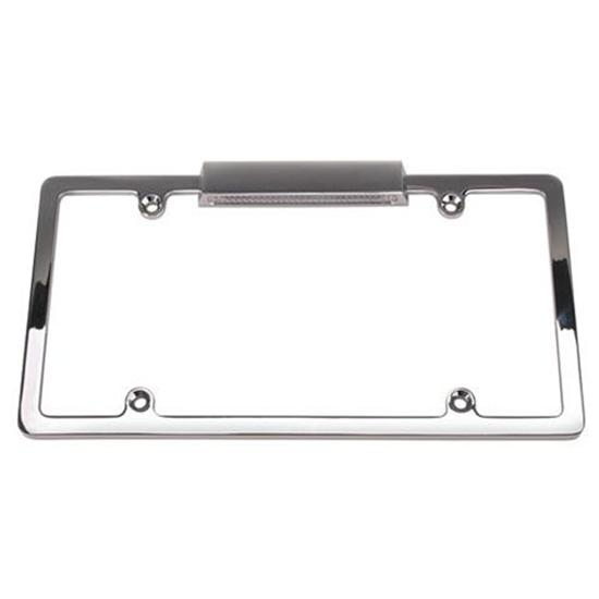 Lighted Chrome License Plate Frame