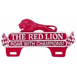 The Red Lion Roar with Champions Plaque Tag Topper