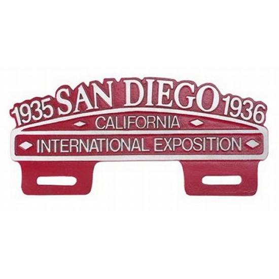 San Diego International Expo License Plate Frame Plaque