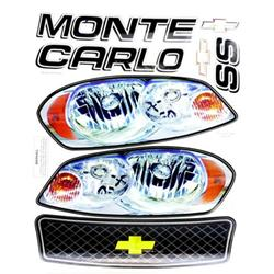 Chevy Monte Carlo SS Maximum Downforce Late Model Nose Graphics