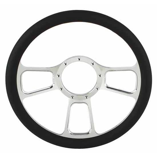 Chrome Plated Billet T-Style Steering Wheel