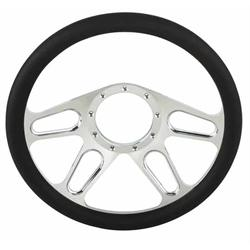 Chrome Plated Billet 4-Slot Style Steering Wheel