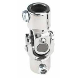 Sweet Mfg Chrome Steering U-Joint, 1 In-48 Spline to 3/4 DD, GM Column