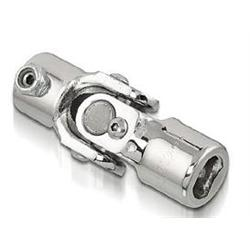 Sweet Mfg Chrome Steering U-Joint, 3/4 Inch DD to 3/4 Inch DD, Universal
