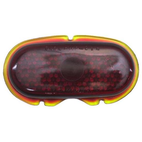 1942-1948 Ford Red Glass Taillight Lens, Passenger Car