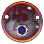 Ford 1932 Car/1932-1945 Pickup Blue Dot Tail Light Lens, Red Glass