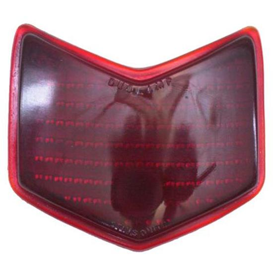 1940 Ford Red Glass Taillight Lens, Passenger Car