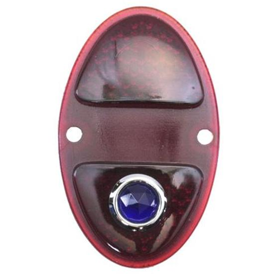 1931-1932 Chevy Blue Dot Tail Light Lens