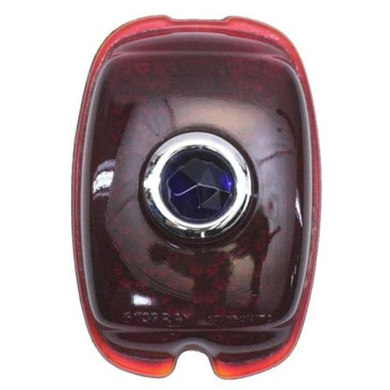 1937-1938 Chevy Blue Dot Taillight Lens, Passenger Car