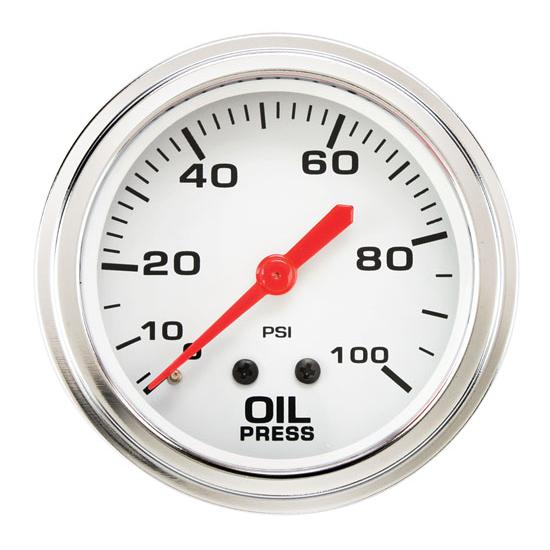 Speedway 2 5/8 Inch Oil Pressure Gauge
